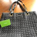 Kate Spade Bags | Kate Spade Black Quilted Tote Leather Handles | Color: Black | Size: 12 Inches Tall 13 Inches Long 3 14 Inches Wide