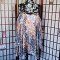 Free People Dresses | Free People Cold Shoulder Floral Tunic Mini Dress | Color: Blue/Pink | Size: L