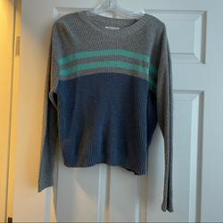 American Eagle Outfitters Sweaters   Blue & Grey Striped Sweater   Color: Blue/Gray   Size: M