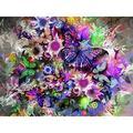 "5D DIY Diamond Painting Full Drill Square Diamond 5D DIY Diamond Painting""Pretty Butterfly""Diamond Embroidery Cross Stitch Rhinestone Mosaic Painting"