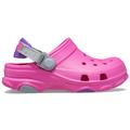 Crocs Electric Pink Kids' Classic All-Terrain Clog Shoes