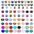 100 PCS Assorted European Craft Beads Big Hole Crystal Lampwork Spacer Beads Colorful Antique Silver Beads Rhinestone European Beads for DIY Necklace Bracelet Jewelry Making (Colorful Antique Silver)