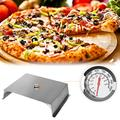 PaNt Universal Stainless Steel Pizza Oven Kit with Stone for Most Gas Grill or Charcoal Grill Conversion Kit, Outdoor Pizza Oven Kit with Slate,22x15 Inches