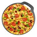 Pizza Baking Stone, Excellent Heat Reduction and Retention Properties Non-Stick Cast Iron Pizza Bread Scones Baking Stone Plate with Ergonomic Handle for Cooking Delicious Pizza Bread and Scones
