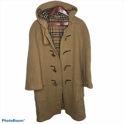 Burberry Jackets & Coats | Burberry Wool Camel Toggle Peacoat Coat Jacket 52 | Color: Brown/Tan | Size: L