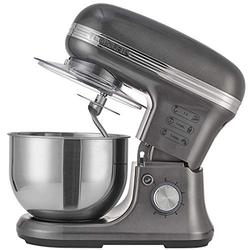 Stand Mixer, COKLAI 5.5Qt Electric Mixer 6 Speed Kitchen Mixer Stainless Steel Bowl Food Mixer, Aluminium Die-casting Head Shell, with Whisk, Hook, Beater and Splash Guard, Gray