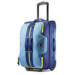 High Sierra Dells Canyon Wheeled Duffel Bag, Graphite Blue/True Navy/Glow, 22-Inch