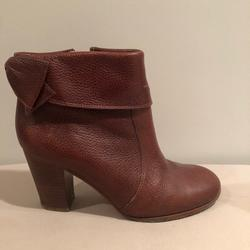 Kate Spade Shoes | Kate Spade - Block Heeled Booties W Bow | Color: Brown | Size: 7.5
