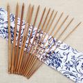 14 pièces, un Crochet et un tricot, bricolage, pull, aiguille à tricoter 35cm, bambou, Crochet