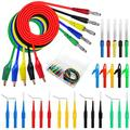 30PCS Back Probe Kit, 4mm Banana Plug to Copper Alligator Clip Test Wires, Insulation Wire Piercing Probes & 30V Back Probe Pins, Automotive Test Leads Set for Car Repairing Diagnostic Circuit Testing