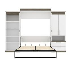 Brayden Studio® Ailed Queen Storage Murphy Bed Wood in White, Size 89.7 H x 123.6 W x 20.2 D in   Wayfair DFEBCE1484C94A33BB8AE194207A431F