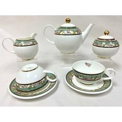 MDR Trading Inc. Floral Patterned Teapot Set in Blue/White/Yellow, Size 8.0 H x 8.0 W x 7.0 D in | Wayfair HO-14D136G-15