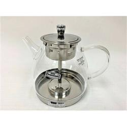 MDR Trading Inc. Glass Tea Pot w/ Stainless Infuser Teapot in Gray, Size 8.0 H x 8.0 W x 8.0 D in   Wayfair HO-GW-60L-32