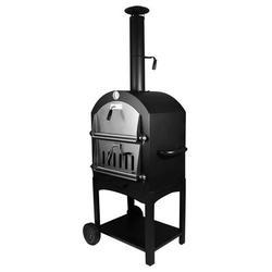 TCMT Steel Freestanding Wood-Fired Pizza Oven in Black Steel in Black/Brown/Gray, Size 61.41 H x 19.29 W x 12.0 D in   Wayfair KB0000012-BK