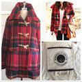 Anthropologie Jackets & Coats | Anthropologie Daughters Of Liberation Plaid Coat | Color: Blue/Red | Size: Xs