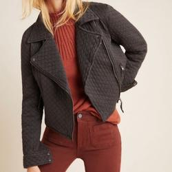 Anthropologie Jackets & Coats | Anthropologie Marrakesh Quilted Cropped Jacket | Color: Black | Size: M