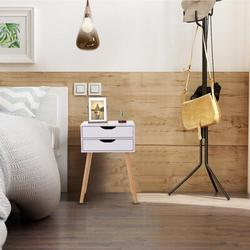 George Oliver Nightstand 2 - Drawer Nightstand Wood in White, Size 23.67 H x 15.8 W x 11.8 D in | Wayfair 794AE31AA31243D49FFC73BF348C1D9F