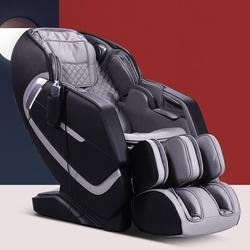 Inbox Zero Massage Chair Recliner, Full Body Massage Chair w/ Thai Stretch, Zero Gravity, Bluetooth Speaker, Airbags, & Foot Massage in Black/Gray