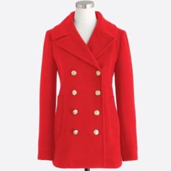 J. Crew Jackets & Coats   J. Crew Wool Blend Pea Coat Red Size 14   Color: Red   Size: 14