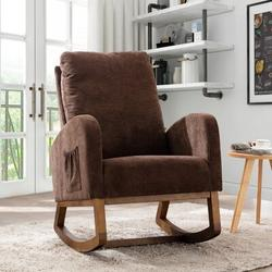 Isabelle & Max™ Rocking Chair Glider Upholstered/Fabric, Size 39.7 H x 27.1 W x 37.0 D in | Wayfair C6296A501D2B4E8C96ECCD7FD74D5A58