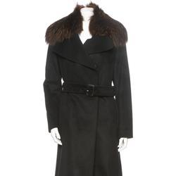 Burberry Jackets & Coats | Burberry Coat W Fur Collar | Color: Black | Size: 6