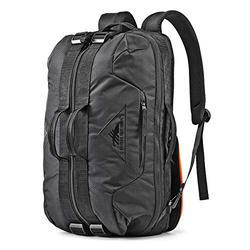 High Sierra Dells Canyon Convertible Duffel Bag, Black/Black, One Size