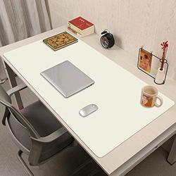 Desk Pad,Pu Leather Desk Pad Protector,Multifunctional Office Desk Pad Office Desk Mat Laptop Desk Pad Waterproof Desk Writing Pad Extended Mouse Pad for Office Home-White. 30x45cm(12x18inch)