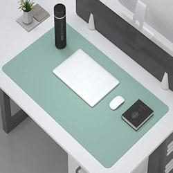 Desk Pad Protector,Office Desk Mat,Multifunctional Office Desk Pad,Non Slip Desk Pad Pu Leather Desk Mat Laptop Desk Pad Waterproof Desk Writing Mat For Computers Laptop Office-Green. 90x40cm(35x16inc