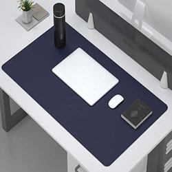 Desk Pad Protector,Office Desk Mat,Multifunctional Office Desk Pad,Non Slip Desk Pad Pu Leather Desk Mat Laptop Desk Pad Waterproof Desk Writing Mat For Computers Laptop Office-Blue. 140x70cm(55x28inc