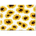 DaringOne Sunflowers Area Rug, 24x36inch Multi-Purpose Carpet with Rubber Bottom, Indoor Rugs for Kids Room Dorm Nursery Laundry Bedroom, Blooming Yellow Flowers Watercolor Style