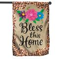 Home Decor Flag Flag-Bless This Home- Home Decor Flag, Bless This Home Flag for Home Decor, Outdoor Decor, Garden Flag Pole Flagpole Sign-Double-Sided Flag for House