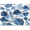 DaringOne Tropical Jungle Area Rug, 48x72inch Multi-Purpose Carpet with Rubber Bottom, Indoor Rugs for Kids Room Dorm Nursery Laundry Bedroom, Palm Branches Flower Hawaii Style Blue