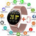 LIGE – montre connectée pour hommes et femmes, bracelet en acier, écran couleur, étanche, moniteur