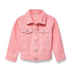 Lila Mae Toddler Colored Denim Jacket - Classic Kids Denim Jean Jacket (4T, Bubblegum)