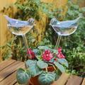 Self Watering Birdie Glass Bulbs, Self Watering Glass Birds, Self Watering Bulbs for Plants Indoor and Outdoor- Self Watering Globes 2 Pack