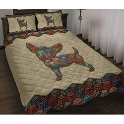 Chihuahua Quilt - Mandala Quilt - Soft and Cozy Comfortable Quilt Quilt Patterns All-Season Quilts Comforters with Cotton - King Queen Twin Size Beach Trips, Gifts Quilt