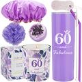 60th Birthday Tumbler, 60th Birthday Gifts for Women, 60 Birthday Gifts, Gifts for 60th Birthday Women, 60th Birthday Decorations, Happy 60th Birthday Candle, 60th Birthday Party Supplies