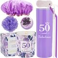 50th Birthday Tumbler, 50th Birthday Gifts for Women, 50 Birthday Gifts, Gifts for 50th Birthday Women, 50th Birthday Decorations, Happy 50th Birthday Candle, 50th Birthday Party Supplies