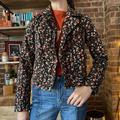 Anthropologie Jackets & Coats   Anthropologie Cropped Moto Jacket Floral Crop   Color: Black/Red   Size: 6