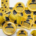 Creative Converting Purple 2021 Graduation Deluxe Party Supplies Kit Serves 36 Guests Heavy Duty Paper in Yellow | Wayfair DTCSBYLW2K
