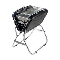 """GDL 23"""" Outdoor Household Stainless Steel BBQ Portable Charcoal Grill Stainless Steel in Black/Gray, Size 26.0 H x 23.5 W x 17.0 D in 
