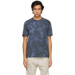 Blue Cotton Graphic T-shirt - Blue - Ermenegildo Zegna T-Shirts