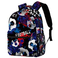 Hiking Backpack Laptop Backpack Football Soccer Print Casual Large Capacity School Bag for Men Women for Work Office College Business Travel