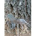 "YOKEBOM English Labrador Dog Garden Stake, Metal Dog Yard Stake Art, Pet Memorial, Metal Garden Stakes, Dog Statue Ornament, Home Art Decor Stake Steel, Gifts for Dog Lovers Gardeners, 11"" W x 7.5"" H"