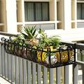 LIMEI-ZEN Plant Stand Metal Plant Holder Plants, Flower Pot Holder, Ground, Garden Rack, for Multi Rust Iron Rust Planter Rack (Color: Black, Size: 120 29 16cm)