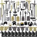 RAVPump 78Pcs Custom Medieval Ancient Rome Egypt Style Building Block Figure Weapon Shield Helmet Armor Kit Building Block Figure Weapon Kit for Minifigures- Compatible with Major Brands