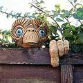 POSONINGS Garden E.T Face Tree Decoration,Whimsical Sculpture Outdoor,Tree Decoration E.T Face Tree Faces Decor Outdoor, Garden Decor Outdoor Decor Yard Patio, Lawn, Yard 2021new Wall Art