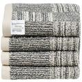 Bathroom Hand Towels - 4-Pack Hand Towel Set 500 GSM Bamboo Charcoal & Cotton 16x28, Kitchen Towels Ideal for Everyday Use, Absorbent & Soft Towels, Oeko-Tex Bath Towels, Workout Towel, Gym Towel