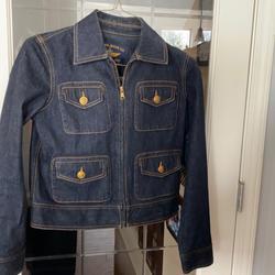 Ralph Lauren Jackets & Coats | Lauren Jeans Co Nautical Button Jean Jacket | Color: Blue | Size: S