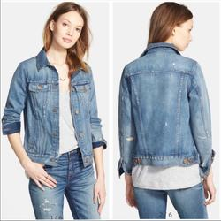 Madewell Jackets & Coats   Madewell Classic Denim Distressed Jean Jacket Med   Color: Blue   Size: M